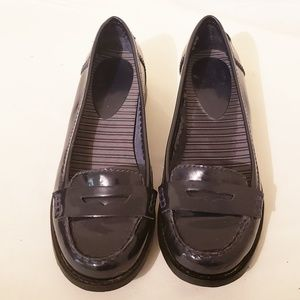 Gianni Bini Black Patent Leather Loafers Size 7.5